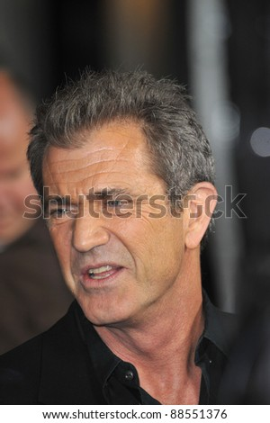 "Mel Gibson at the Los Angeles premiere of his new movie ""Edge of Darkness"" at Grauman's Chinese Theatre, Hollywood. January 26, 2010  Los Angeles, CA Picture: Paul Smith / Featureflash"