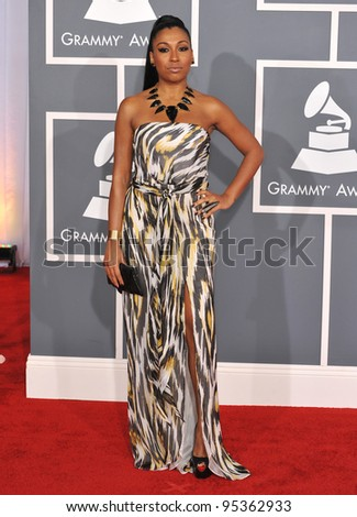 Melanie Fiona at the 54th Annual Grammy Awards at the Staples Centre, Los Angeles. February 12, 2012  Los Angeles, CA Picture: Paul Smith / Featureflash