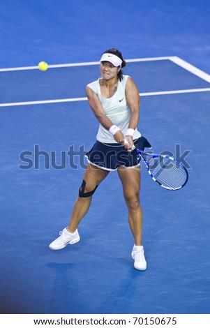 MELBOURNE, AUSTRALIA - JANUARY 29: Australian Open Womens Final,  Na Li(CHN)[9] who was defeated by Kim Clijsters(BEL)[3] on January 29, 2011 in Melbourne, Australia