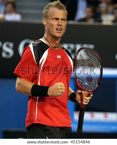 MELBOURNE, AUSTRALIA - JANUARY 23: Lleyton Hewitt in his third round match at the 2010 Australian Open on January 23, 2010 in Melbourne, Australia