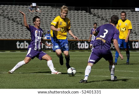 MELBOURNE, AUSTRALIA - MARCH 20: Action from the National Youth League grand final won by Gold Coast United over Perth Glory on March 20, 2010 in Melbourne, Australia
