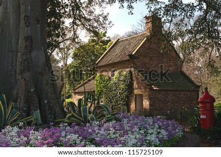 MELBOURNE, AUSTRALIA - SEPT 13, 2012: James Cook's Cottage on September 13, 2012. James Cook's parents house de-constructed in England and re-erected in Australia is popular tourist attraction