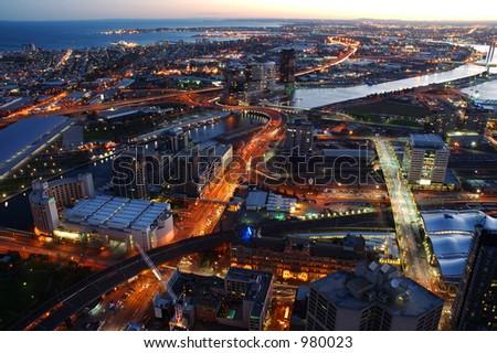 Melbourne City After Dark