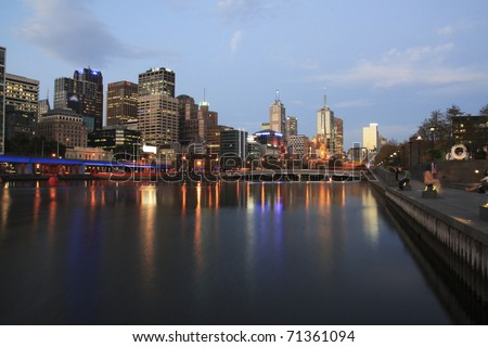 Melbourne Cityscape over Yarra River