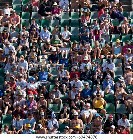 MELBOURNE - JANUARY 20: Crowd in Margaret Court Arena in the 2011 Australian Open - January 20, 2011 in Melbourne