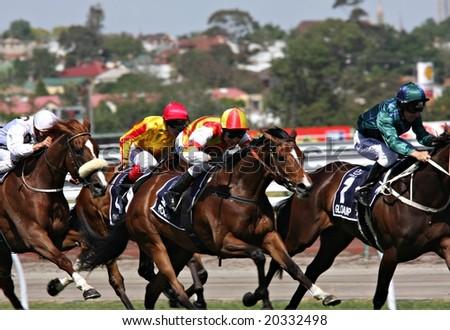 MELBOURNE NOVEMBER 6 - Rocha (ridden by Danny Nikolic) at full stretch in the 2008 Oaks at Flemington in Melbourne