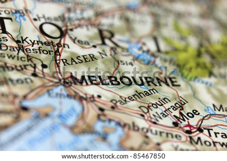 Melbourne on the map.