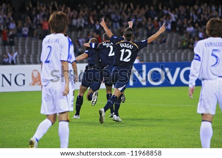 Melbourne Victory FC vs Gamba Osaka - Telstra Dome, 9th April '08 (#12 VARGAS, Rodrigo #9 ALLSOPP, Daniel #2 MUSCAT, Kevin)