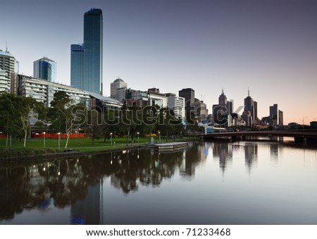 Melbournne Skyline from the Southbank
