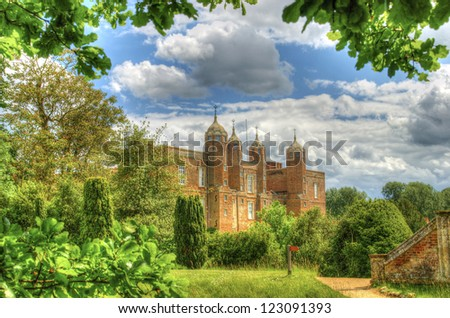 Melford Hall in all it's glory in the summertime
