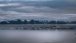 Melkøya, an oil rigg on an island right outside of Hammerfest in Arctic Norway