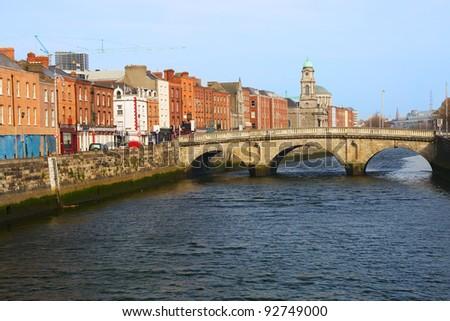 Mellows bridge in the city of Dublin, Ireland.