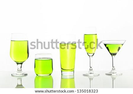 melon green cocktail