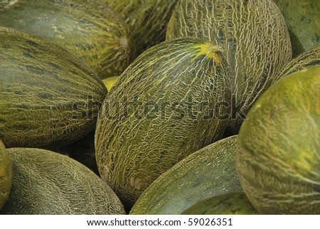 melon ready to be sold in the market