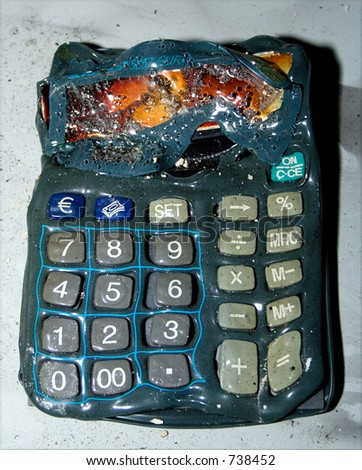 Melted calculator