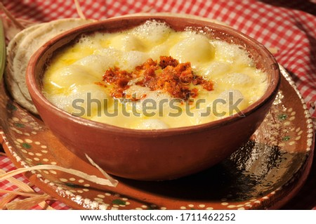 melted cheese chorizo mexican food Foto stock ©
