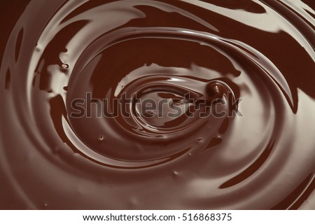 Melted chocolate swirl  background