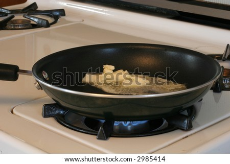 melting butter in frying pan