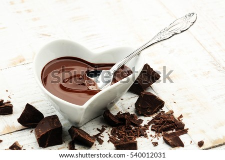 Melting chocolate / melted chocolate/ chocolate swirl/ stack/ chips and powder #540012031