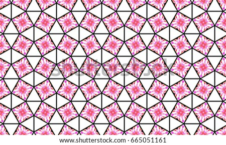 Melting colorful symmetrical pattern for textile, ceramic tiles, wallpapers and design #665051161