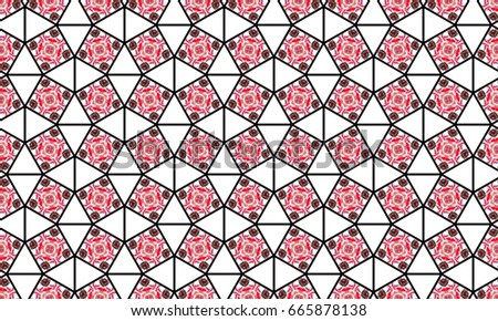 Melting colorful symmetrical pattern for textile, ceramic tiles, wallpapers and design #665878138