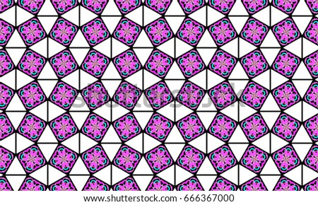 Melting colorful symmetrical pattern for textile, ceramic tiles, wallpapers and design #666367000