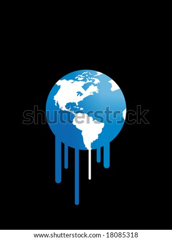 Melting earth. Global warming concept.