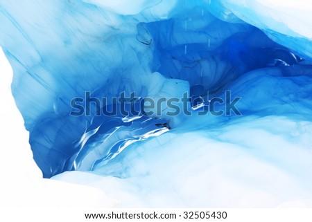 melting ice cave at Fox Glacier, New Zealand