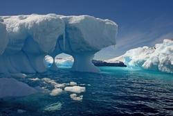 Melting iceberg in Antarctica.