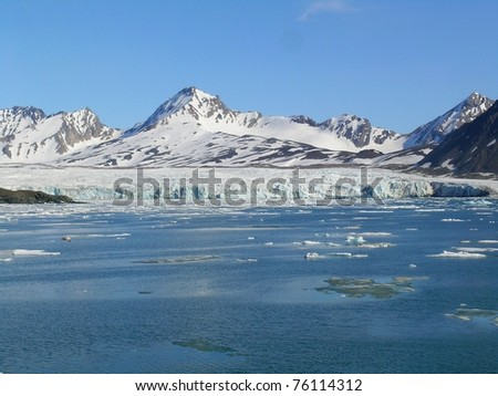 melting of arctic glacier