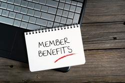 Member Benefits, e-commerce conceptual