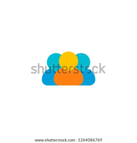 Members icon flat element.  illustration of members icon flat isolated on clean background for your web mobile app logo design.