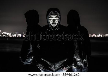 Members of Yakuza gang are waiting for you. The Japanese bandits. ストックフォト ©