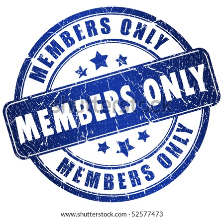Members only stamp Stock photo ©