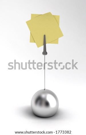 Memo holder on white background