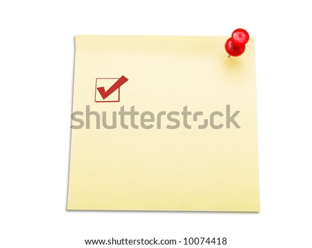Memo stick with empty space for check list