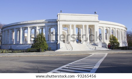 Memorial Amphitheater, Arlington Cemetery Virginia, Near Washington DC