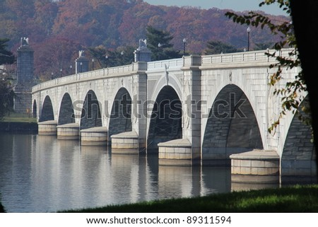 Memorial Bridge in Washington D.C. USA - stock photo