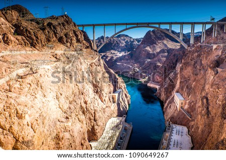 Memorial Bridge over the Colorado River at Hoover Dam