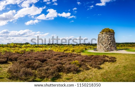Memorial Cairn at  the battlefield of Culloden near Inverness