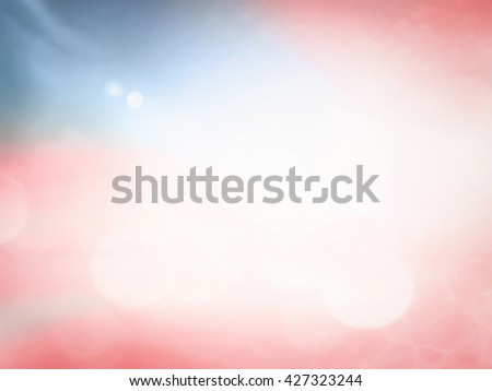 Memorial day background. Abstract blurred nature texture, Sea, Sand, Beach, Sky, Independence Day, 4th July, Ocean, Health Care, Healthy, Peace, Zen, Religion, Red, USA, Sale, Blue concept