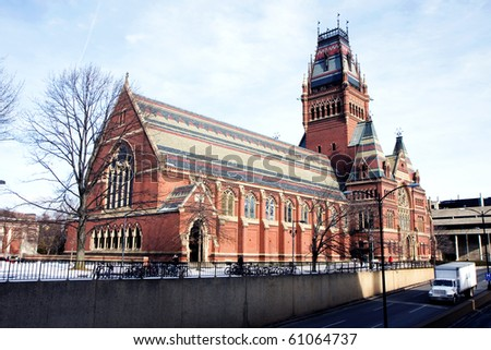 Memorial hall of Harvard university in Cambridge, Massachusets