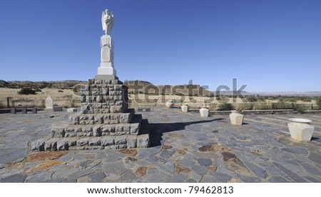 memorial to anglo-boer war concentration camp victims at bethulie, free state, south africa