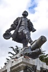 Memorial to Ferdinand Magellan in thw town of Punta Arenas, Chile