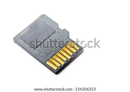 Memory card micro CD. Photo Close-up