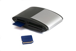 Memory card rider with inserted card