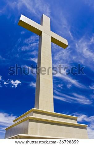 Memory cross in Mount Macedon, Victoria, Australia