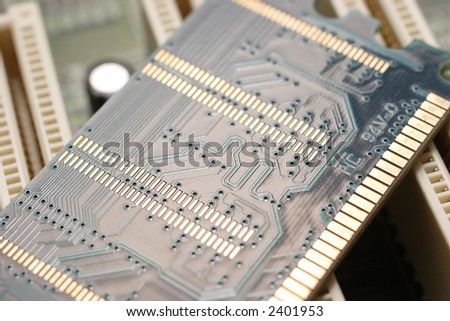 Memory module on motherboard