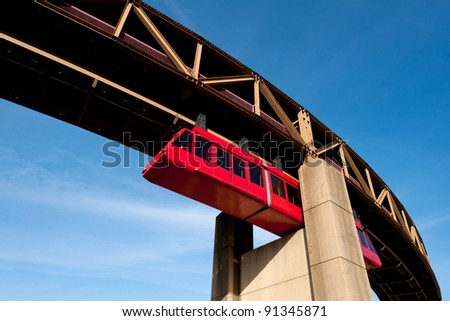 Memphis Suspension Railway - stock photo