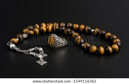 Men accessories with gemstone and silver